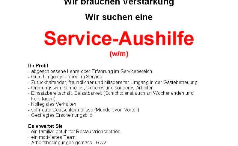 Stelleninserat Service Angestellte Sternen_01 (003)